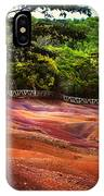 Seven Colored Earth In Chamarel 3. Mauritius IPhone Case