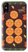 Seven Of Pentacles IPhone Case