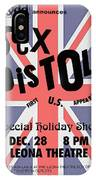 Sex Pistols First Us Appearance IPhone Case