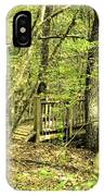 Shades Mountain Bridge In The Forest IPhone Case