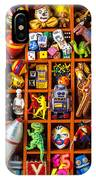 Shadow Box Full Of Toys IPhone Case