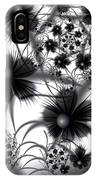 Shadow Flowers IPhone Case