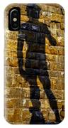 Shadow Of Michaelangelo's David IPhone Case