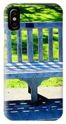 Shadows Of A Park Bench IPhone Case