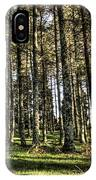 Shadows Of The Larch Forest Sunset No2 IPhone Case