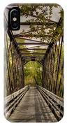Shadows On The Walking Bridge IPhone Case