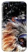 Shaggy Black Dog IPhone Case