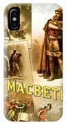 Shakespeare's Macbeth 1884 IPhone Case