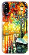 She Left... - Palette Knife Oil Painting On Canvas By Leonid Afremov IPhone Case