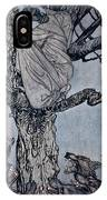 She Looked With Angry Woe At The Straining And Snarling Horde Below Illustration From Irish Fairy  IPhone Case