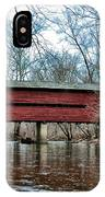 Sheeder - Hall - Covered Bridge Chester County Pa IPhone Case