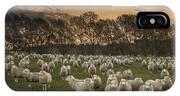 Sheep Flock At Dawn Arrowtown Otago New IPhone Case