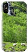 Sheep In A Grassy Mountain Field IPhone Case