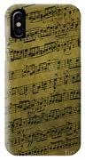 Sheet Music IPhone Case