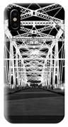 Shelby Street Bridge At Night In Nashville IPhone Case