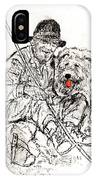 Shepherd With Dog IPhone Case