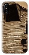 Shingle Barn Sepia 1 IPhone Case