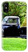 Shiny Black Pickup Truck IPhone Case