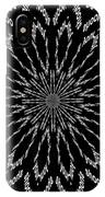 Shooting Star Black And White Kaleidoscope IPhone Case
