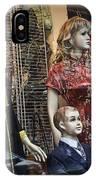 Shop Window Display Of Mannequins IPhone Case