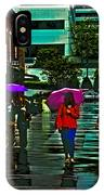 Shopping In The Rain - Knoxville IPhone Case