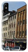 Shops And Buildings Along Rue Saint-paul Old Montreal IPhone Case