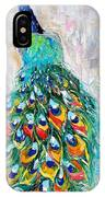 Showy Peacock IPhone Case