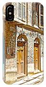 Shutters And Doors Along The Street In Bhaktapur-city Of Devotees-nepal  IPhone Case