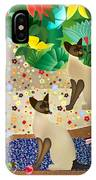 Siameses En Chaise Con Flores Limited Edition 2 Of 15 IPhone Case