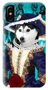 Siberian Husky Art Canvas Print - Baroness IPhone Case