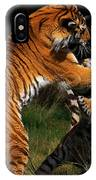 Siberian Tigers In Fight IPhone Case