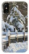 Side Cut Park Winter Wonderland IPhone Case