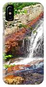 Side View Of Southeast Brook Falls In Gros Morne Np-nl IPhone Case
