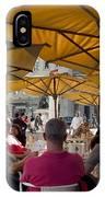 Sidewalk Cafe In Lisbon IPhone Case