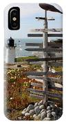 Sign At Point Montara IPhone Case