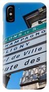 Sign For The Route Des Vins, Arbois IPhone Case