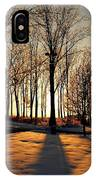 Silhouette Of Trees And Ice IPhone Case