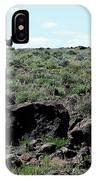 Silhouette Of Twin Peaks Wild Horses Ne California IPhone Case