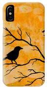 Silhouette Orange IPhone Case