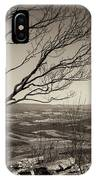 Silhouetted Above A Flat Earth IPhone Case