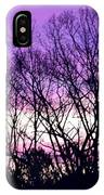 Silhouettes Against Pink Skies IPhone Case