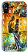 Silhouettes - Palette Knife Oil Painting On Canvas By Leonid Afremov IPhone Case