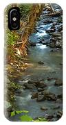 Silky Stream In Rain Forest Landscape Art Prints IPhone Case