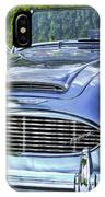 Silver 1963 Austin Healey Roadster 3000 IPhone Case