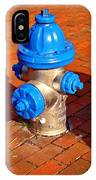 Silver And Blue Hydrant IPhone Case