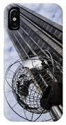 Silver And Blue Planet Earth IPhone Case