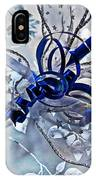 Silver And Blue Wrapped Gift Art Prints IPhone Case