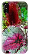 Silver Edged Rex Begonia Plant Art Prints IPhone Case