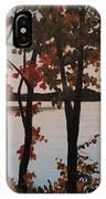 Silver Lake Through Autumn Trees IPhone Case