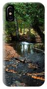 Silver River Channel In Autumn IPhone Case